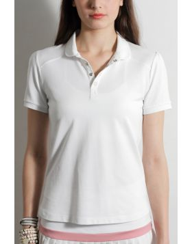 SHORT SLEEVE PIQUE POLO WITH SHOULDER PANELS