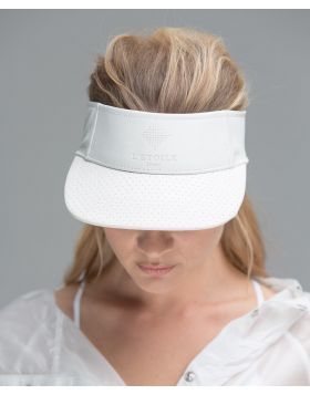 PERFORATED LEATHER VISOR